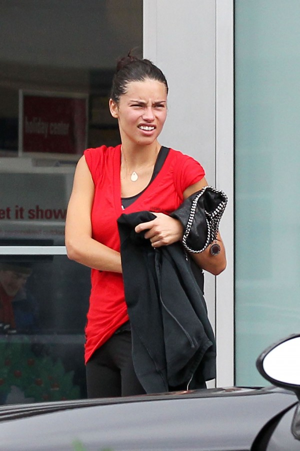 Adriana Lima Heading at the Gym