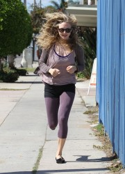 Amanda Seyfried Jogging in Los Angeles
