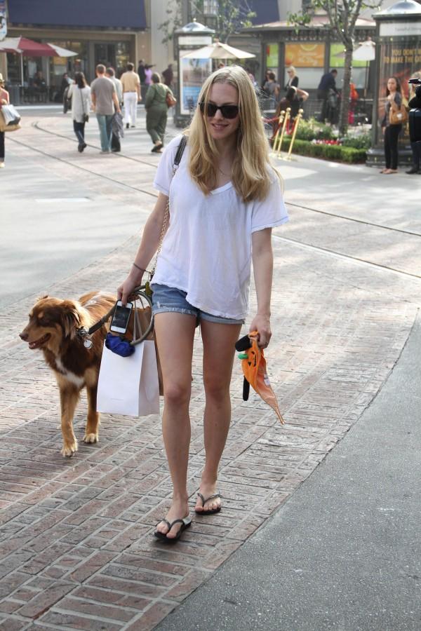 Amanda Seyfried Walking Her the Dog