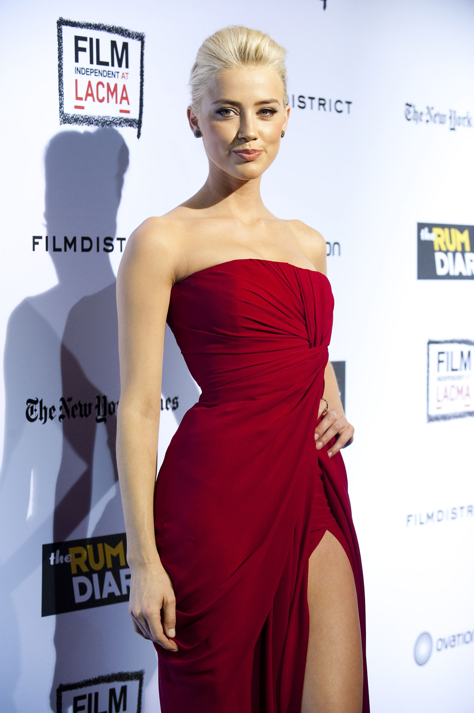 Amber Heard at The Rum Diary Premiere in Los Angeles ...