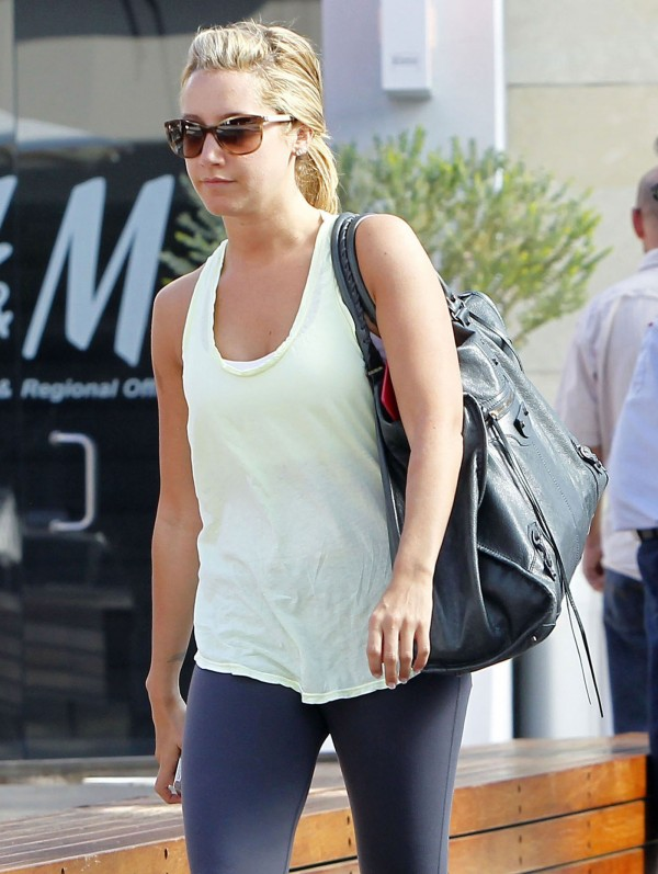Ashley Tisdale Heading to the Gym