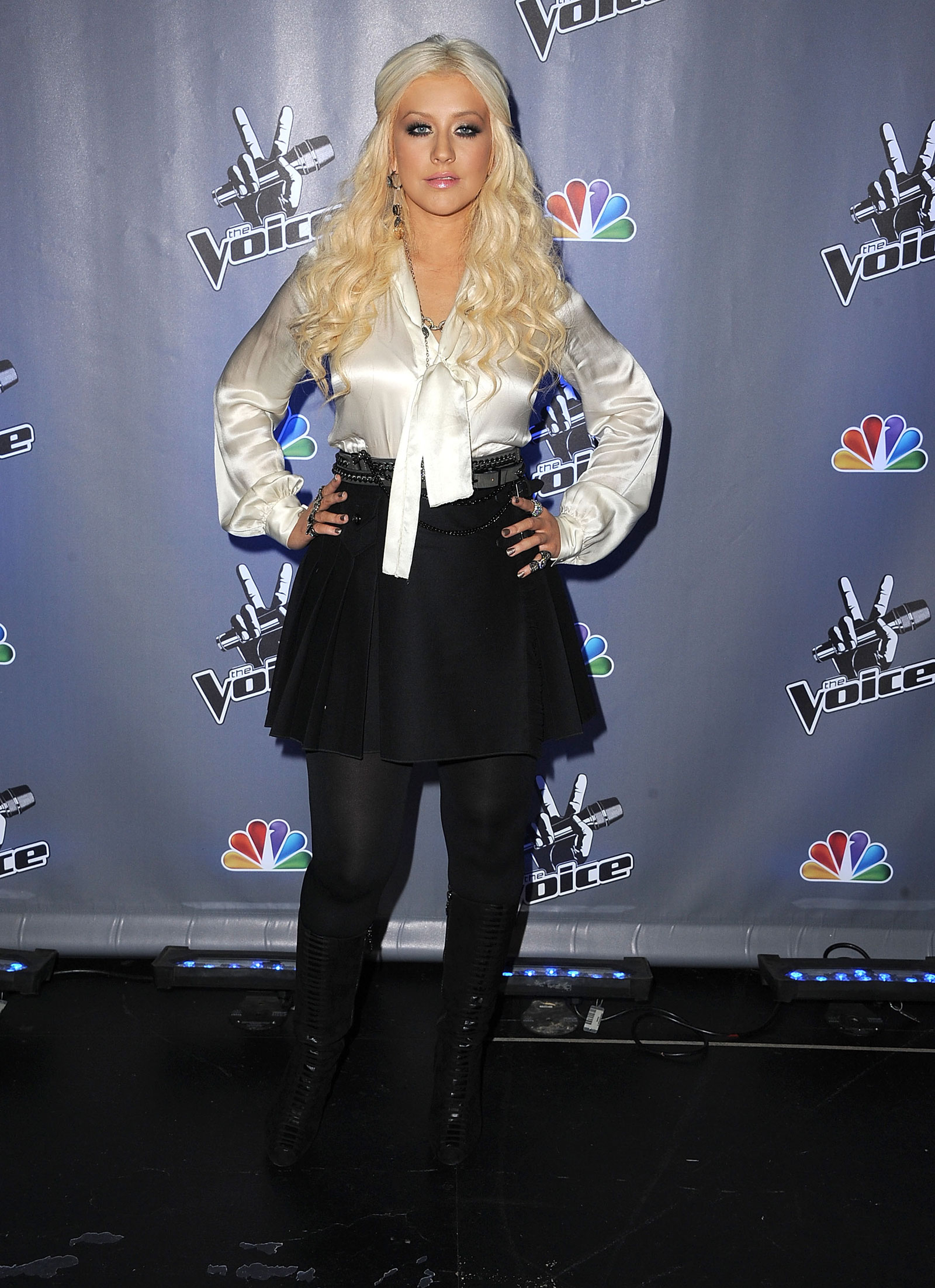 56 Photos of Christina Aguilera at The Voice Season 2 in ...
