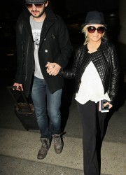 Christina Aguilera at LAX