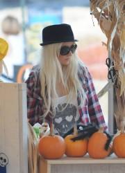 Christina Aguilera at The Pumpkin Patch