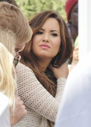 Demi Lovato on Extra at The Grove