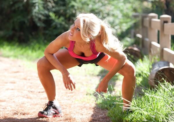 Gretchen Rossi Jogging in Park