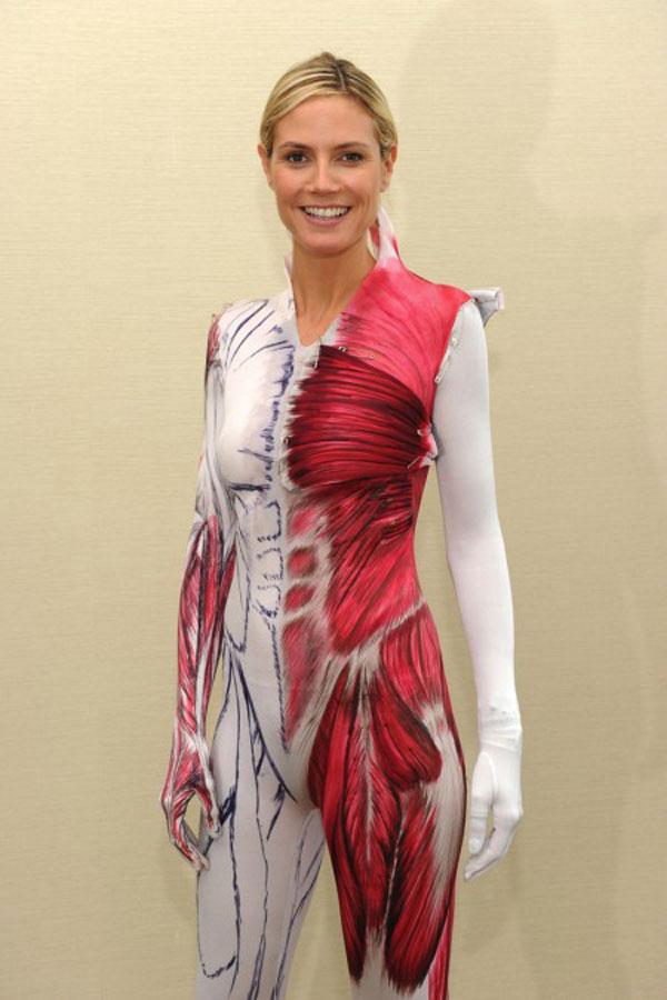 Heidi Klum In Human Anatomy Haloween Costume Hawtcelebs