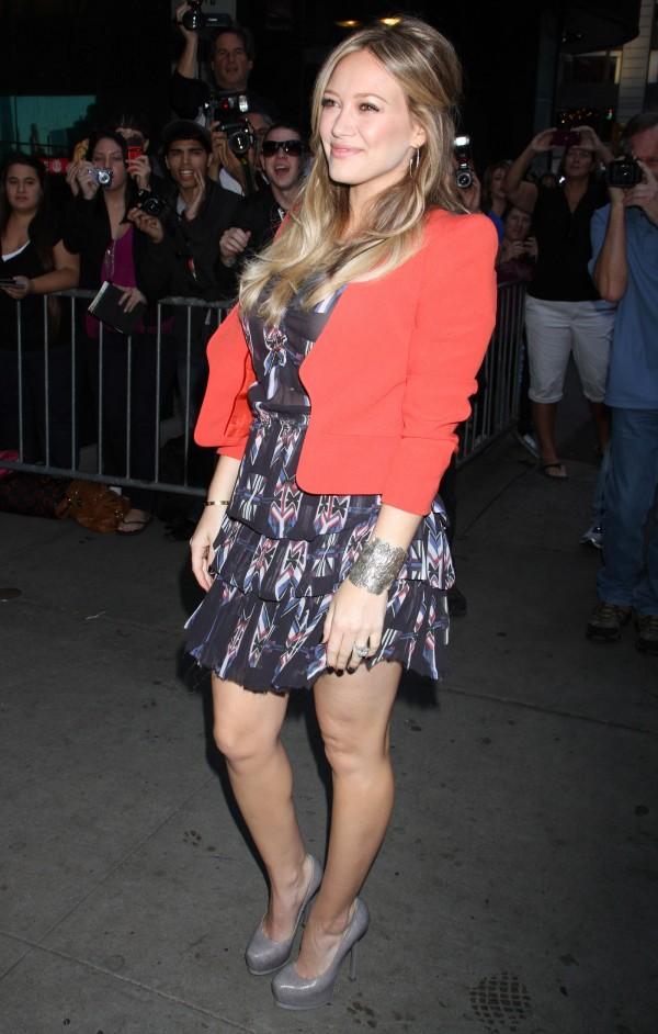 Good Morning America Latest News : Hilary duff arrives at good morning america in new york