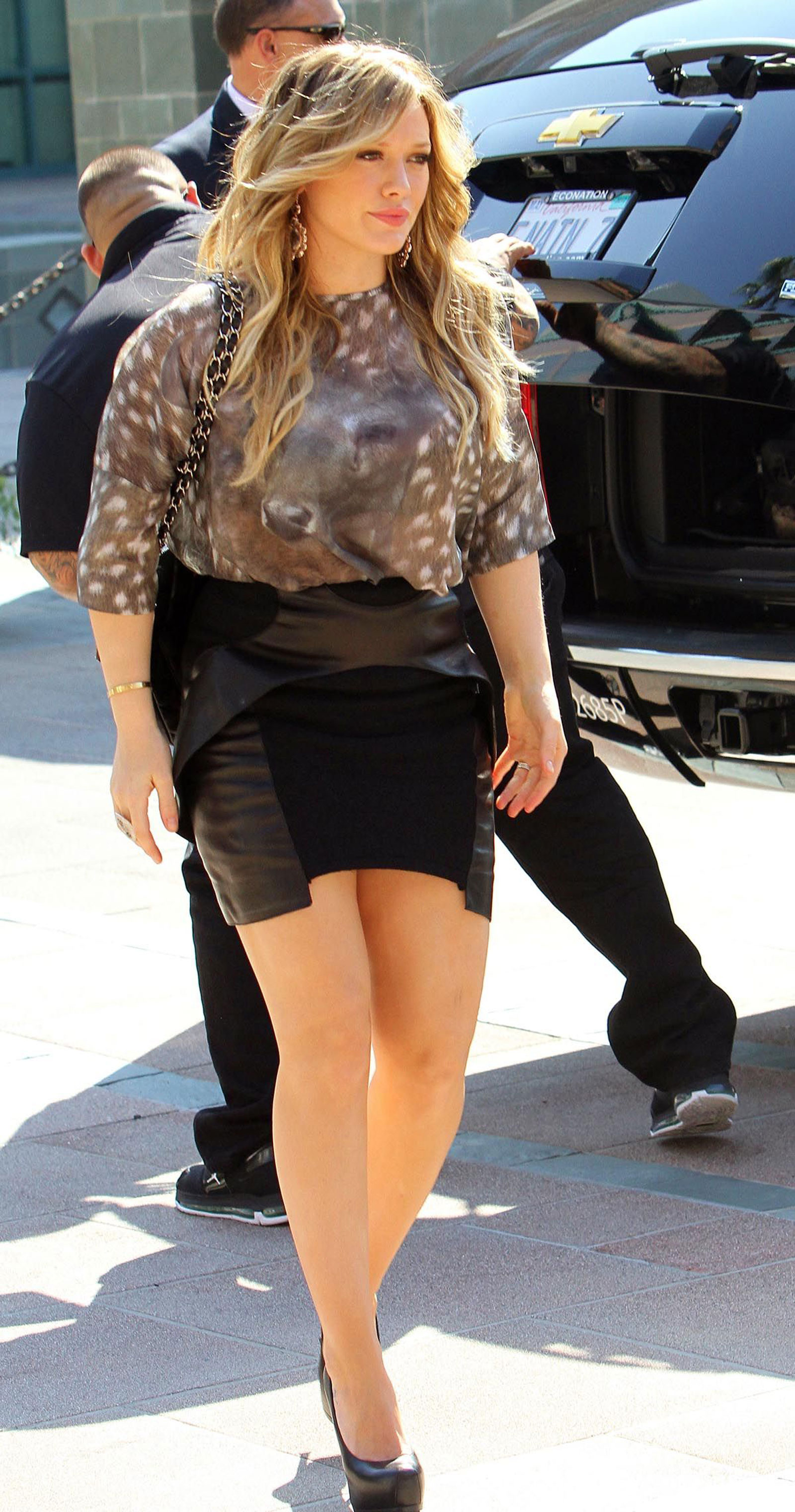 Afraid, hilary duff mini skirt are not