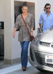 Jessica Alba at Lancer Dermatology in Beverly Hills