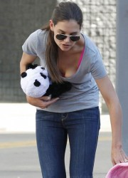 Katie Holmes Playing with Panda