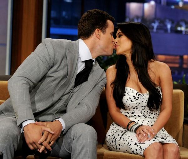 Kim Kardashian and Kris Humphries at The Tonight Show with Jay Leno
