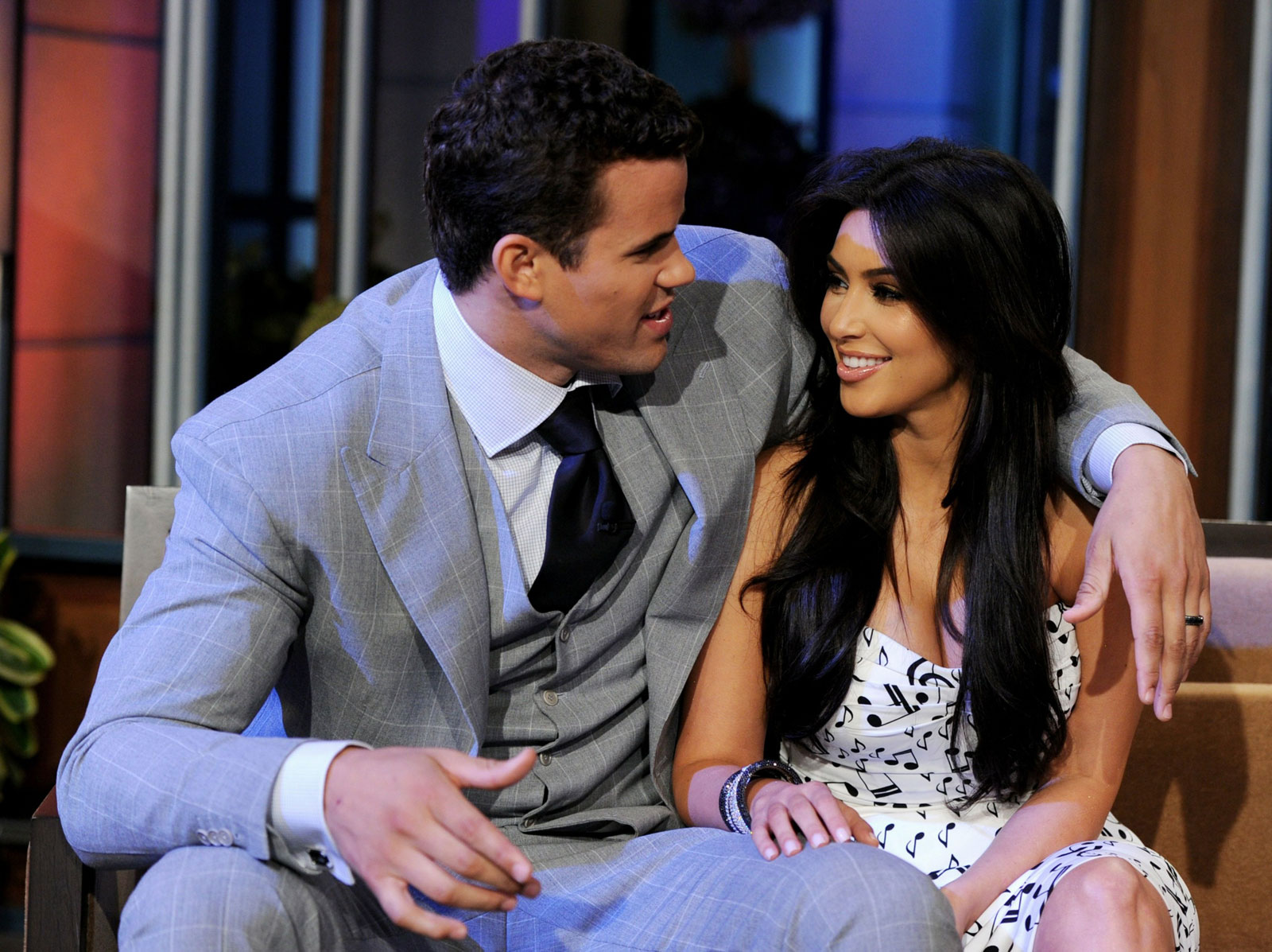 Kim Kardashian and Kris Humphries at The Tonight Show with Jay