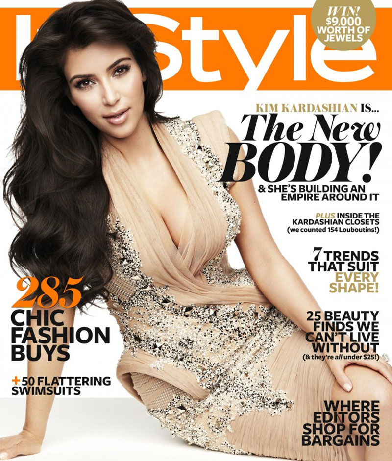 Kim kardashian in instyle magazine november 2011 issue Fashion style mag images
