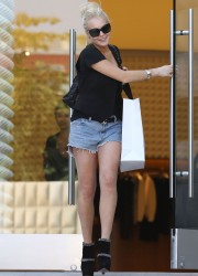 Lindsay Lohan Out in Beverly Hills
