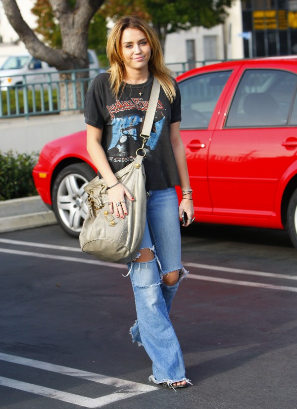 Miley Cyrus in Torn Jeans