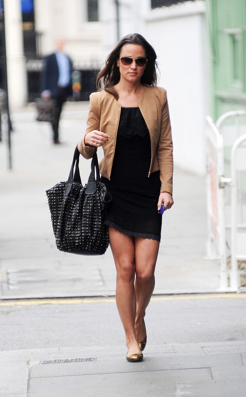 Pippa Middleton Wearing Black Dress in London - HawtCelebs