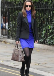 Pippa Middleton in Blue Dress
