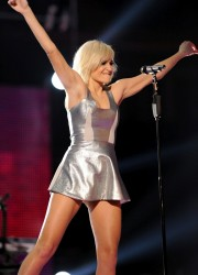 Pixie Lott Performs at Michael Forever Tribute Concert in Cardiff, Wales