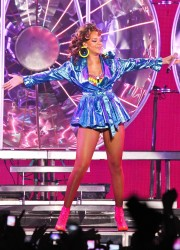 Rihanna Performing in Manchester