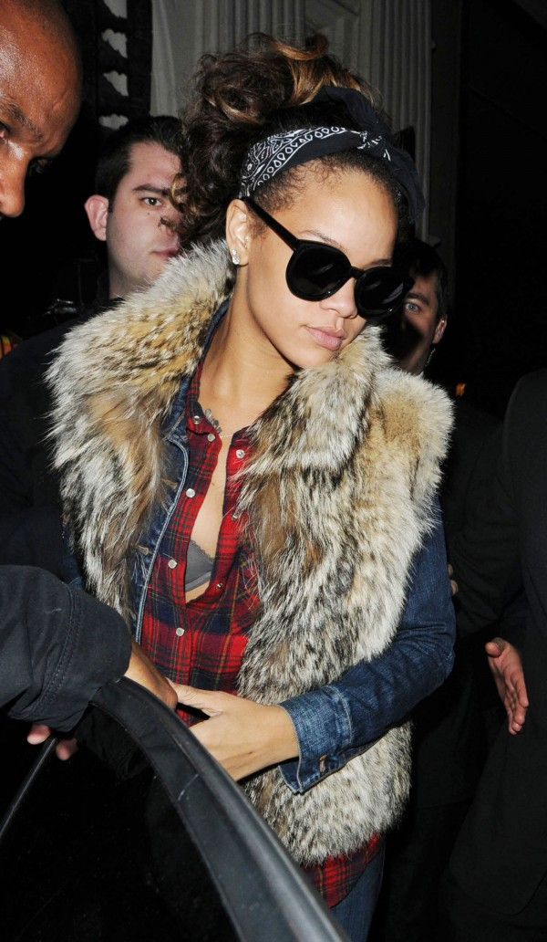 Rihanna at Mahiki Club in London