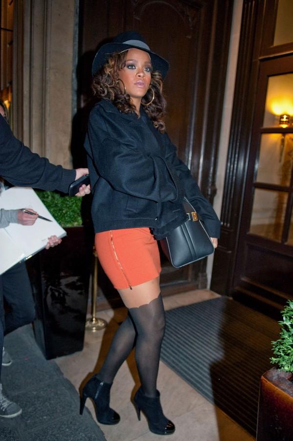 Rihanna at Sofitel Hotel