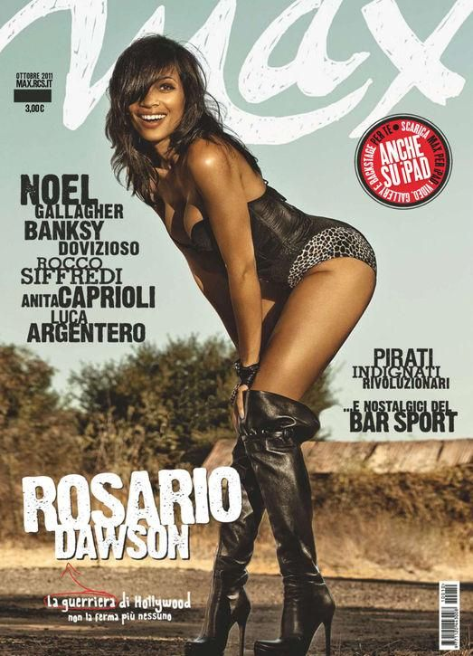 Rosario Dawson looks hot and sexy in Italy's Max Magazine