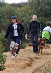 Amanda Seyfried Walks Her Dog