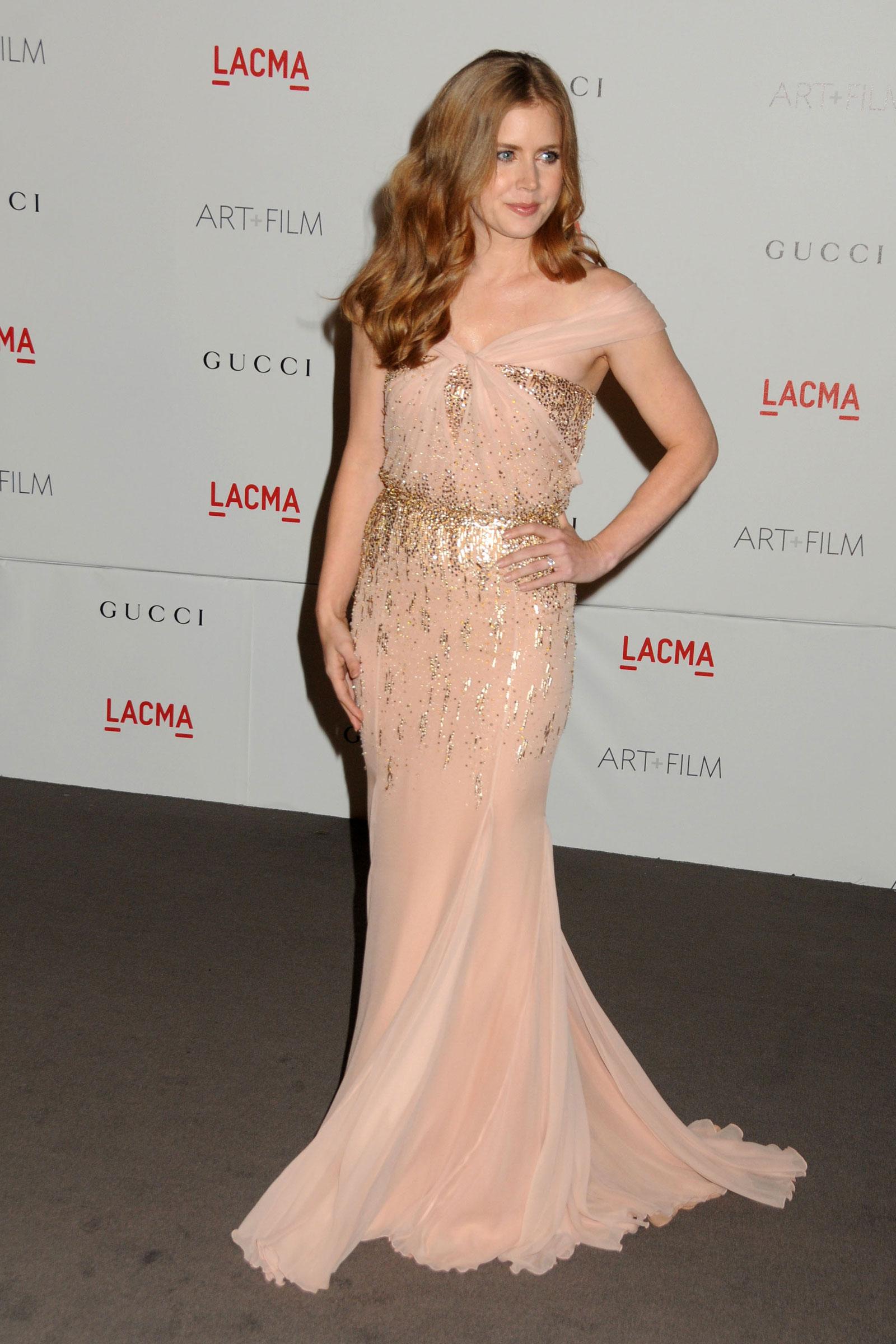 Amy Adams In Gucci - LACMA Art + Film Gala 2013 - Red
