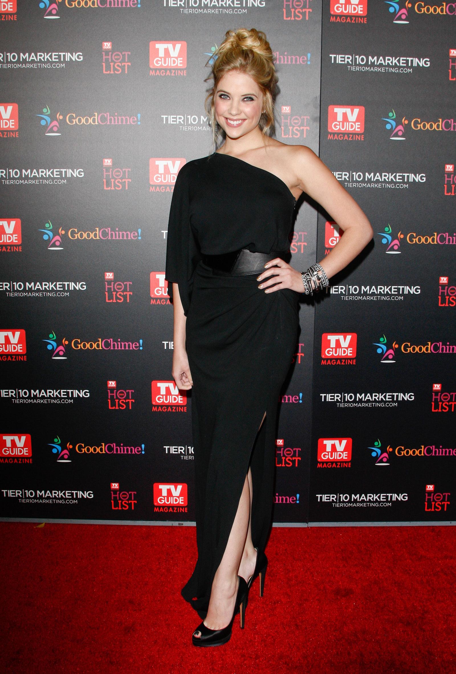 Ashley benson in black dress