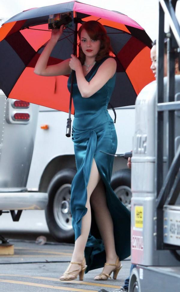 Emma Stone Filming Gangster Squad in LA