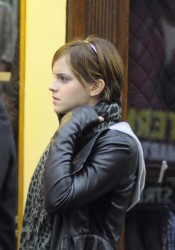 Emma Watson Leaving a Screening of The Rum Diary in Oxford