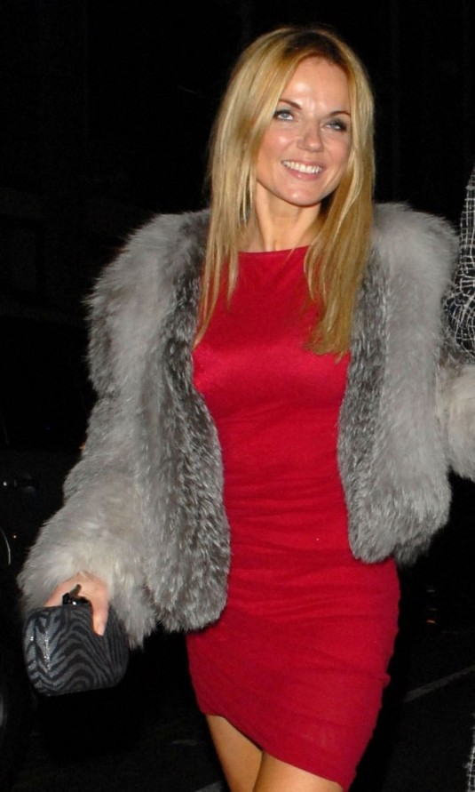 Geri Halliwell Leave The Box Club Nightclub in London