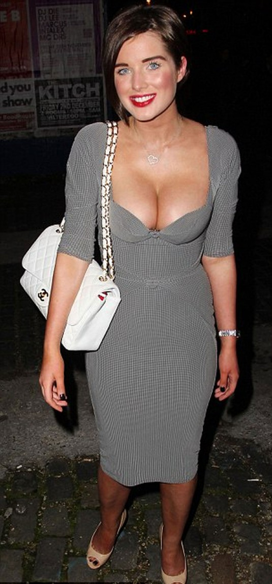 Mature women wearing very low cut tops