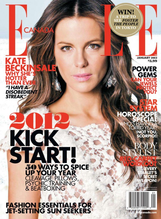 Kate Beckinsale Covers Elle Magazine