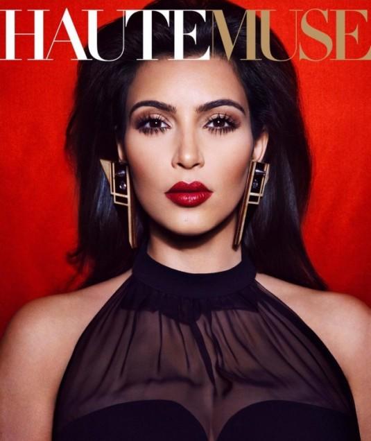 Kim Kardashian Covers Haute Muse Magazine