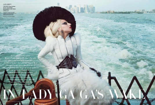 Lady Gaga Covers Vanity Fair Magazine January 2012 Issue