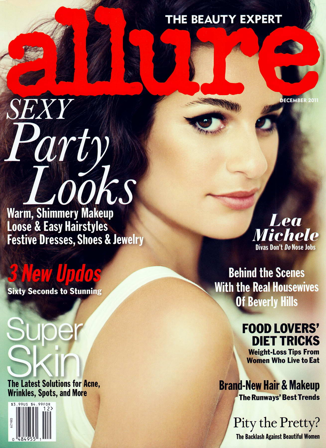 Lea Michele Covers Allure Magazine December 2011 Issue