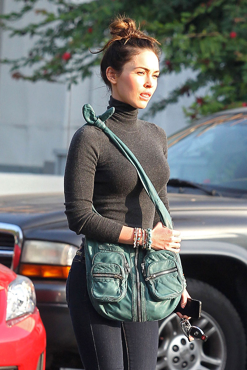 Megan Fox in a Tight Sweater Out in Hollywood - HawtCelebs ...