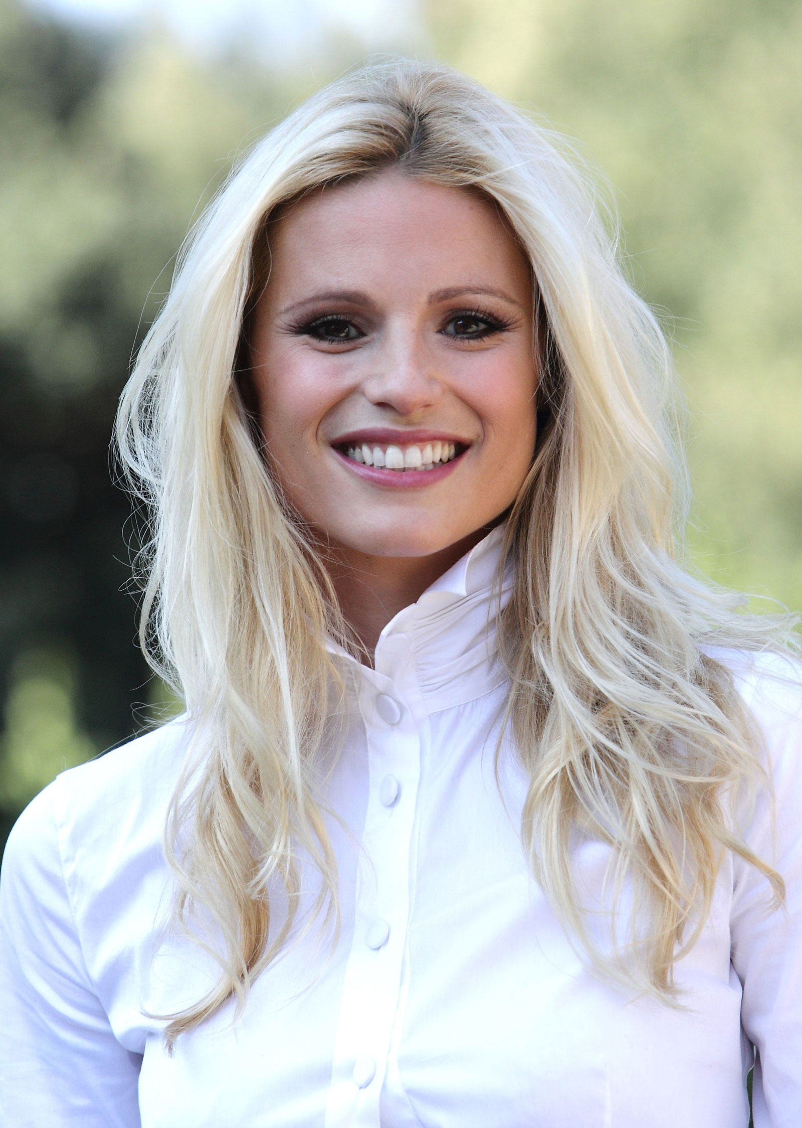Michelle Hunziker at Amore Nero Photocall in Rome, Italy
