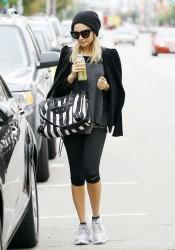 Nicole Richie Leave the Gym in Studio City