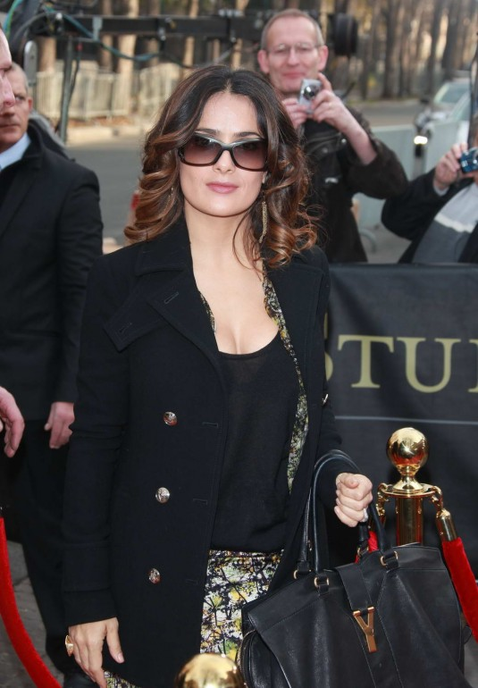 Salma Hayek Arriving at Champs Elysees Television Talkshow in Paris