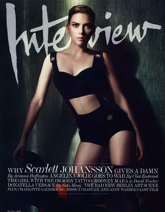 Scarlett Johansson Covers Interview Magazine Dec 2011