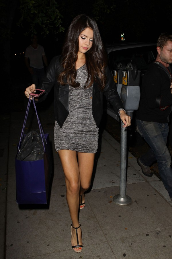 Selena Gomez Leggy in West Hollywood