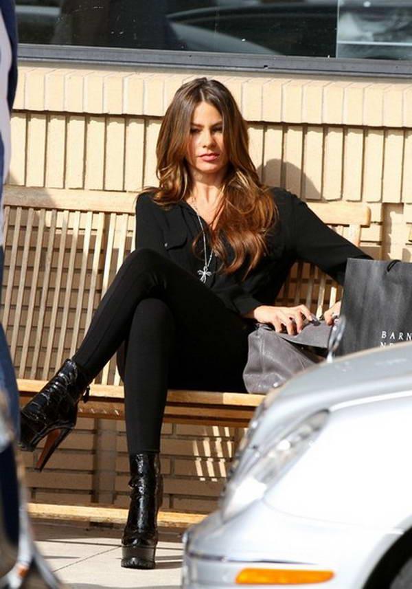 Sofia Vergara Leaves Barney's New York in Beverly Hills
