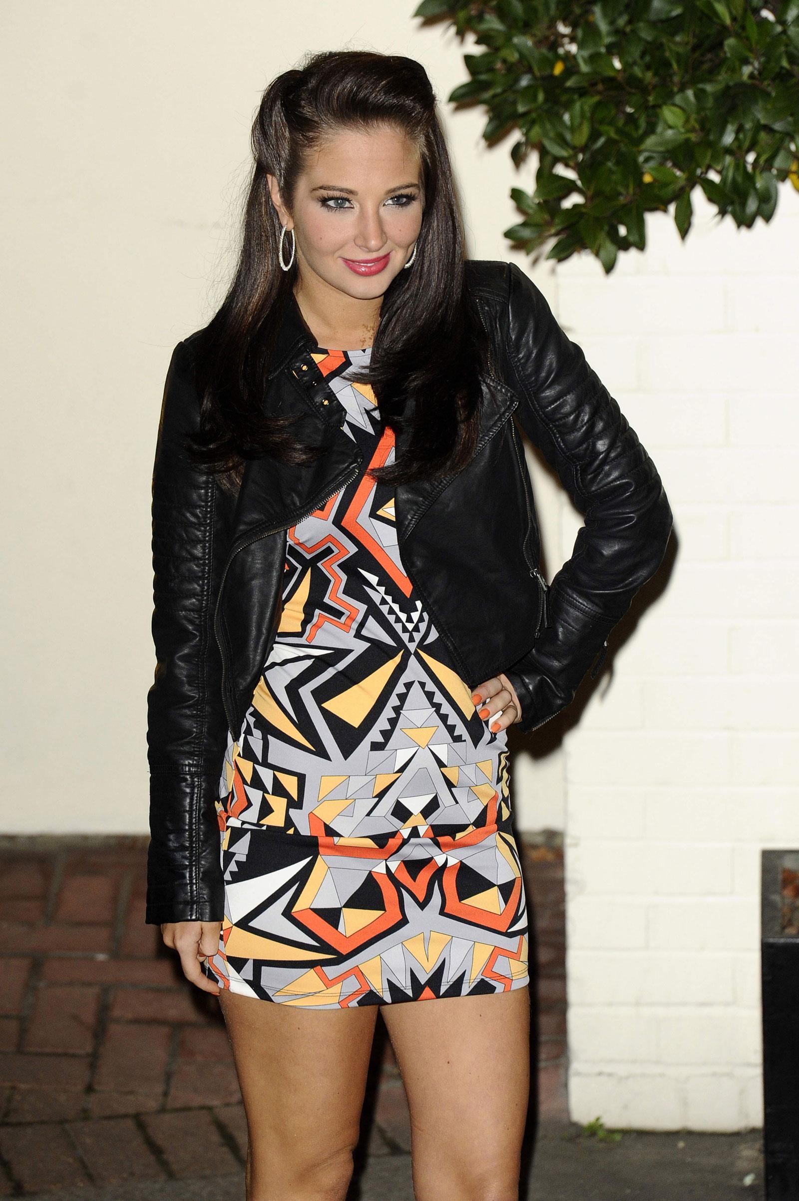 Tulisa Contostavlos In Cosmopolitan Magazine November: Tulisa Contostavlos Leggy Leave The X Factor Studios In