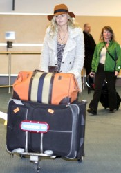 Alyson Michalka Arriving at the Vancouver International Airport