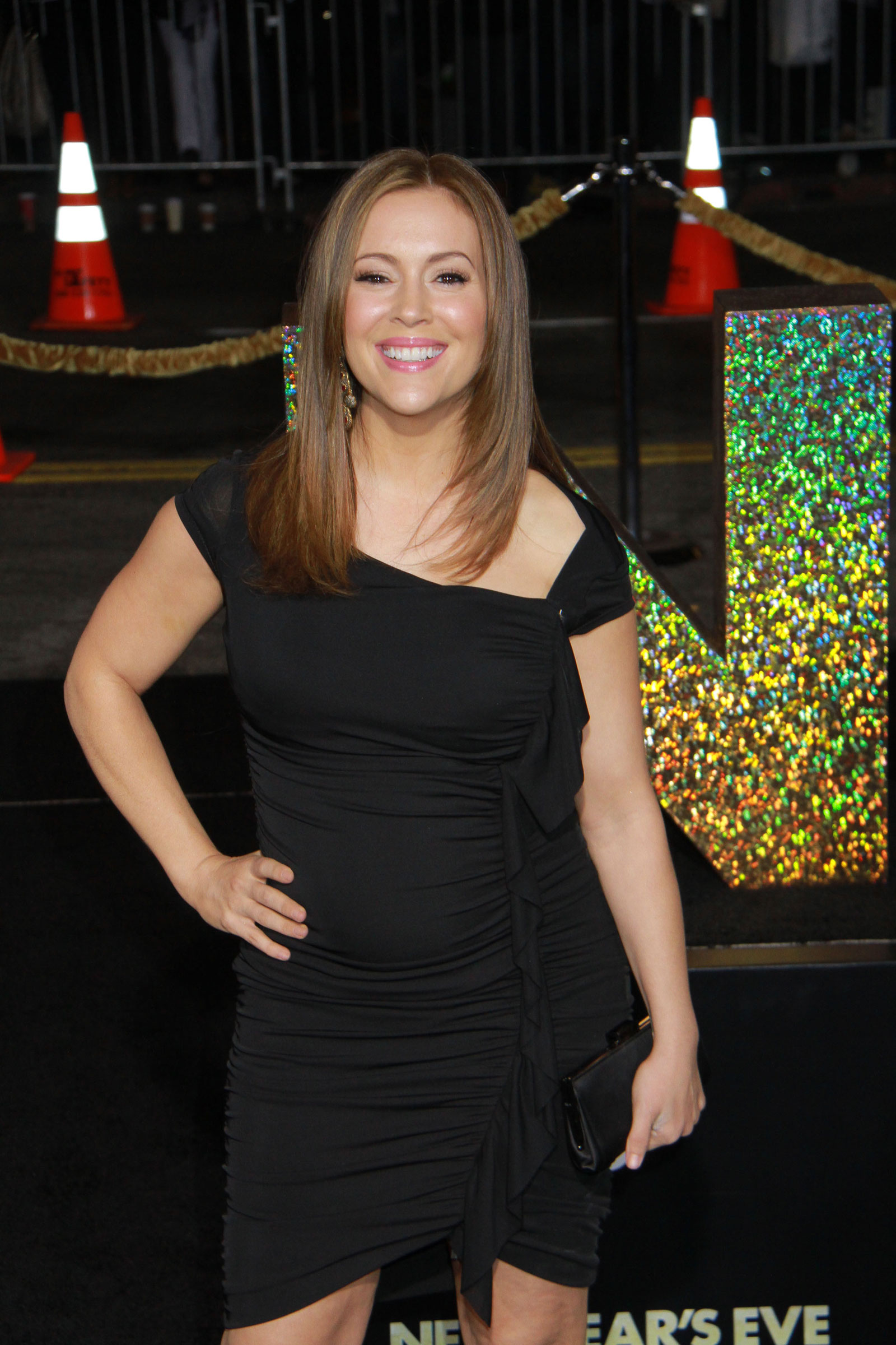 Alyssa Milano at New Year's Eve Premiere in Los Amgeles ...
