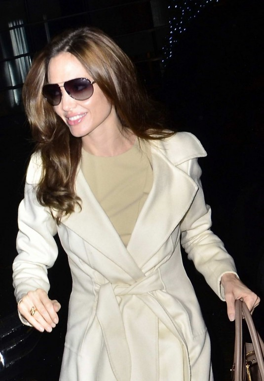 Angelina Jolie Outside Charlie Rose Show Studio in New York