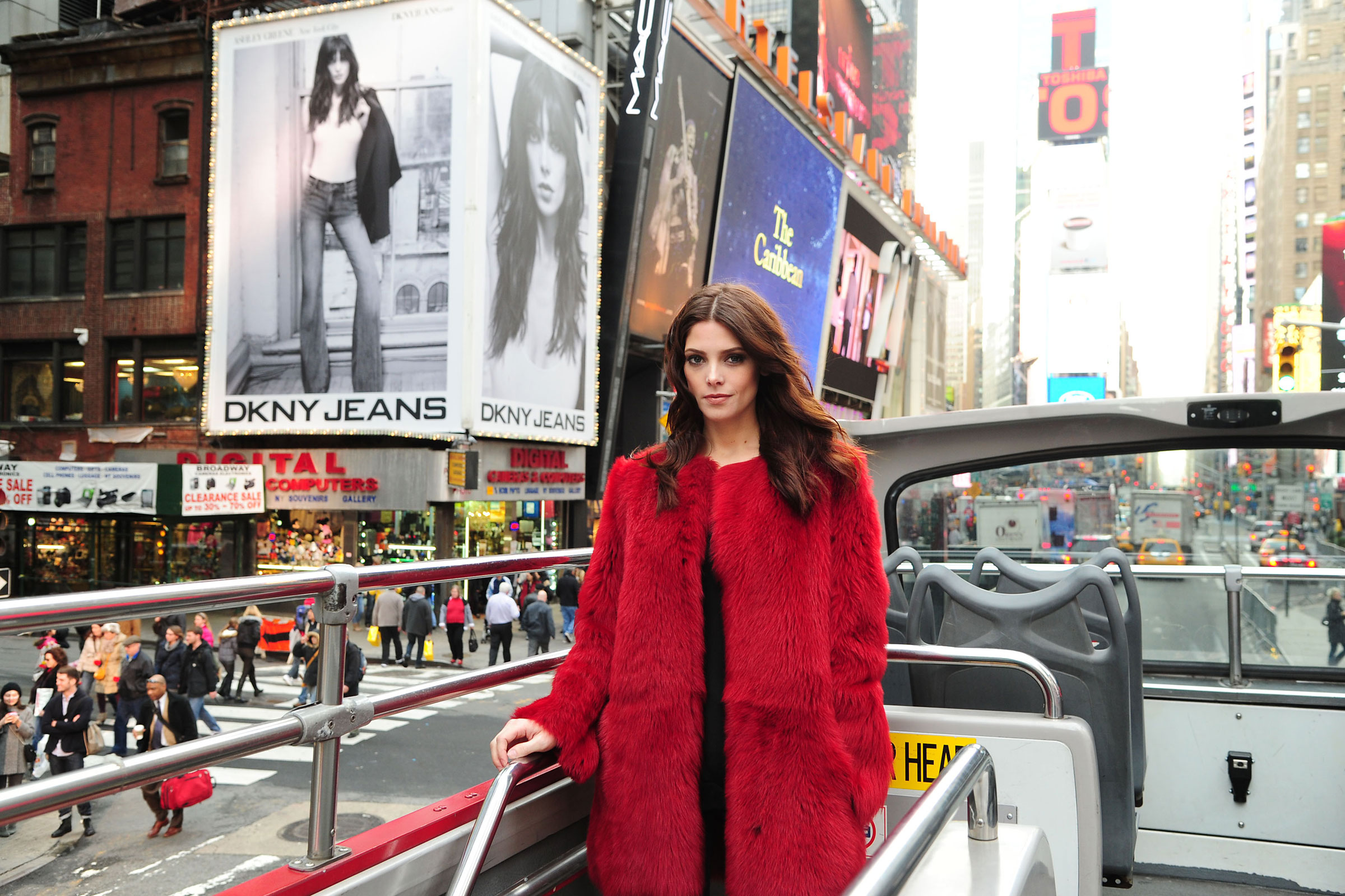Ashley Greene on Times Square at DKNY Jeans Spring 2012 Ad